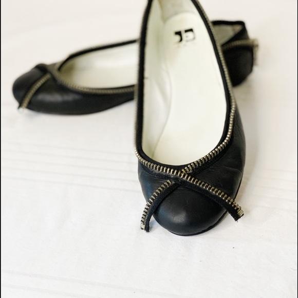 JOE'S Jeans Zipper Trim Ballet Flats 9M
